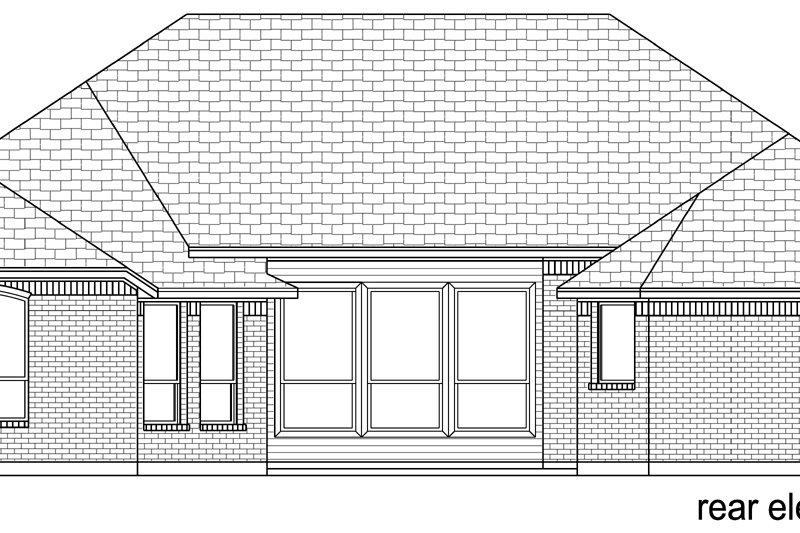 European Exterior - Rear Elevation Plan #84-595 - Houseplans.com