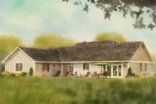 Home Plan - Ranch Exterior - Rear Elevation Plan #18-9545