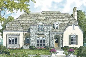 Architectural House Design - Country Exterior - Front Elevation Plan #453-170