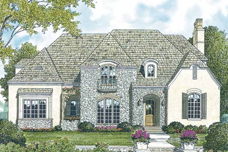 Dream House Plan - Country Exterior - Front Elevation Plan #453-170
