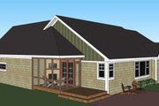 Craftsman Style House Plan - 3 Beds 2.5 Baths 1897 Sq/Ft Plan #51-515 Exterior - Rear Elevation