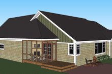 House Plan Design - Craftsman Exterior - Rear Elevation Plan #51-515