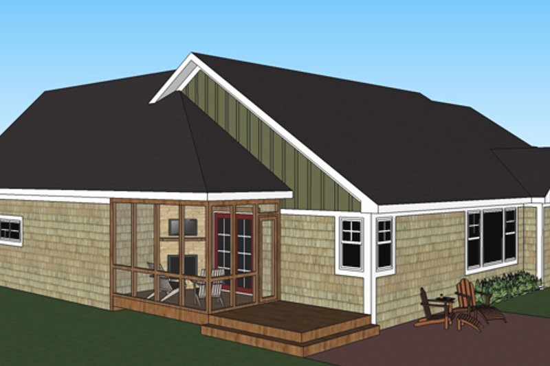 Craftsman Exterior - Rear Elevation Plan #51-515 - Houseplans.com