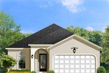 House Plan Design - Mediterranean Exterior - Front Elevation Plan #1058-93