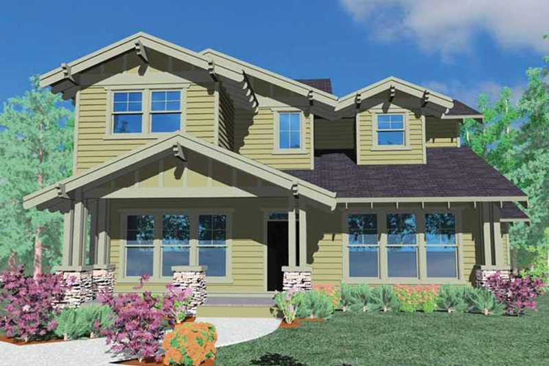 Craftsman Exterior - Front Elevation Plan #509-266