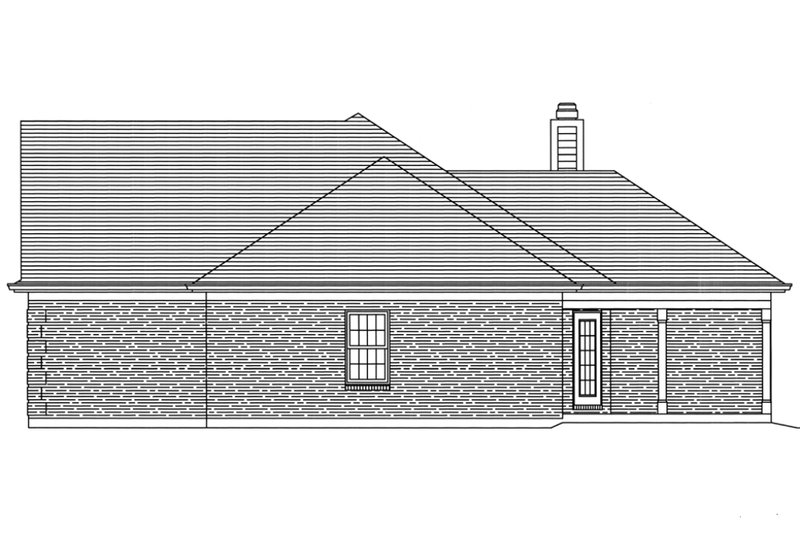Traditional Style House Plan 3 Beds 2 Baths 1824 Sq Ft
