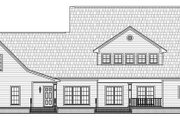 Country Style House Plan - 4 Beds 3.5 Baths 3000 Sq/Ft Plan #21-269 Exterior - Rear Elevation