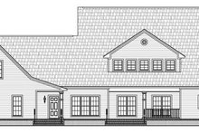 Home Plan - Country Exterior - Rear Elevation Plan #21-269
