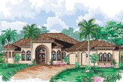 European Style House Plan - 4 Beds 4 Baths 3650 Sq/Ft Plan #27-369 Exterior - Front Elevation