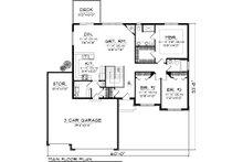 Ranch Floor Plan - Main Floor Plan Plan #70-1047