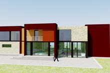 Dream House Plan - Modern Exterior - Rear Elevation Plan #542-1