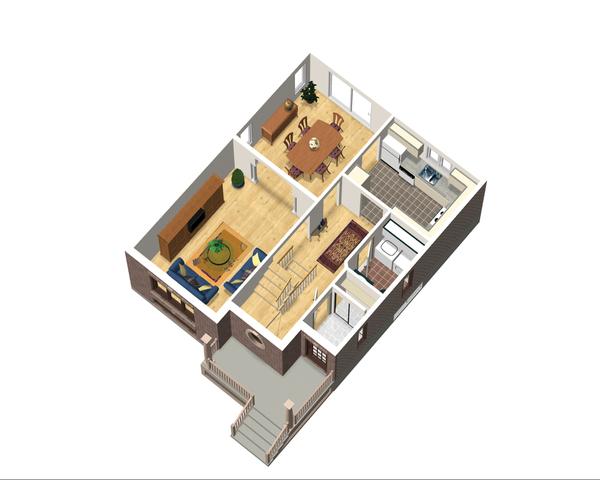 European Floor Plan - Main Floor Plan Plan #25-4556