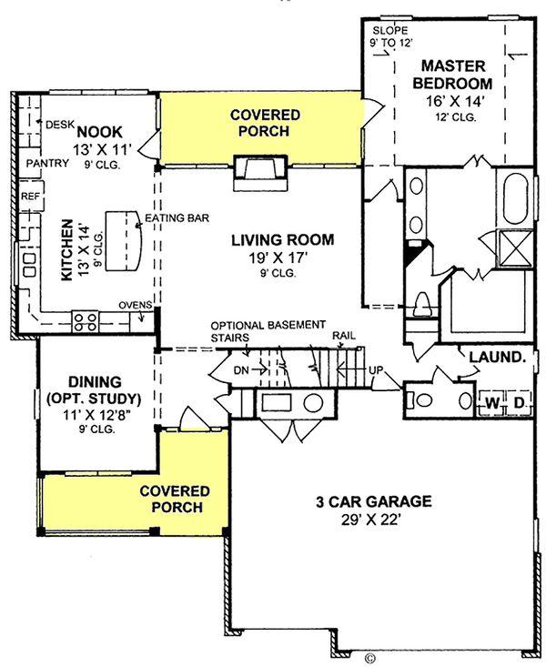 House Design - Traditional Floor Plan - Main Floor Plan #20-1356