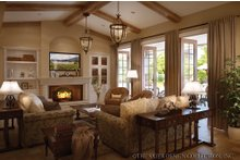 House Design - Mediterranean Interior - Family Room Plan #930-12