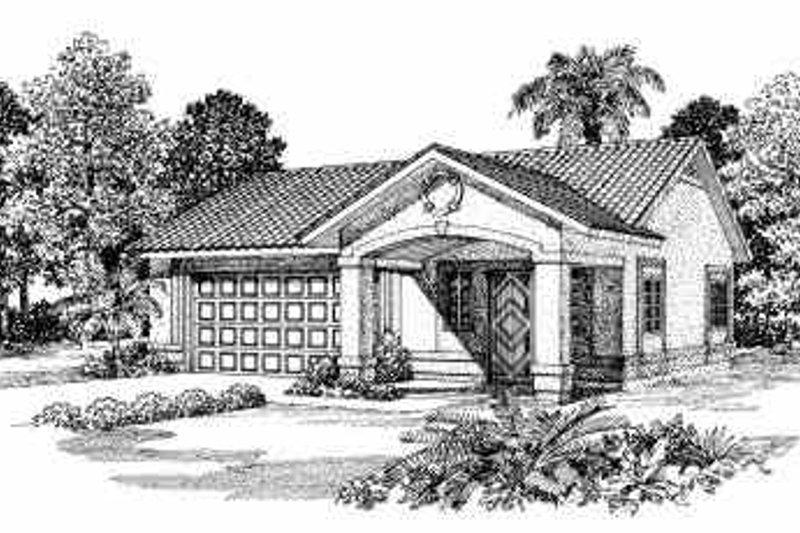 House Blueprint - Mediterranean Exterior - Front Elevation Plan #72-261