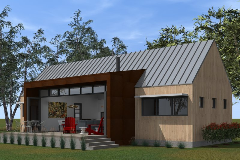 Modern Style House Plan - 2 Beds 2 Baths 991 Sq/Ft Plan #933-5 Exterior - Outdoor Living