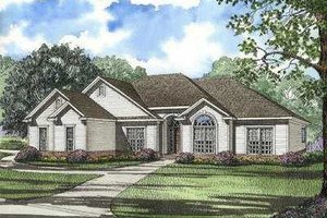 Traditional Exterior - Front Elevation Plan #17-594