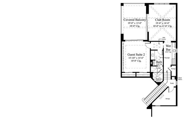 contemporary style house plan 5 beds 5 5 baths 6136 sq ft plan V Back contemporary floor plan upper floor plan plan 930 475
