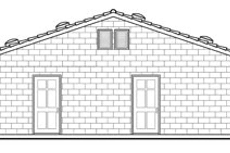 Traditional Exterior - Rear Elevation Plan #124-629 - Houseplans.com
