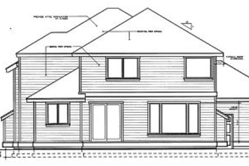 Colonial Exterior - Rear Elevation Plan #97-223 - Houseplans.com