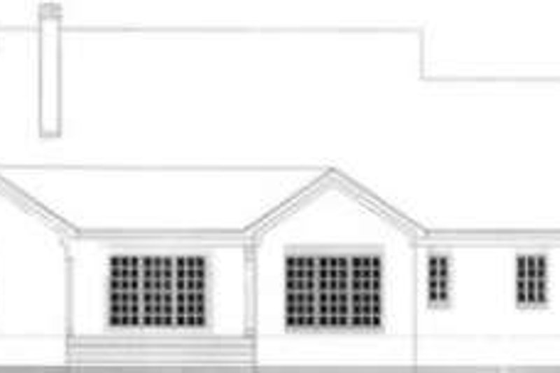 Colonial Exterior - Rear Elevation Plan #406-260 - Houseplans.com