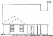 Dream House Plan - Traditional Exterior - Rear Elevation Plan #20-1419
