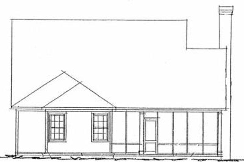 Traditional Exterior - Rear Elevation Plan #20-1419 - Houseplans.com