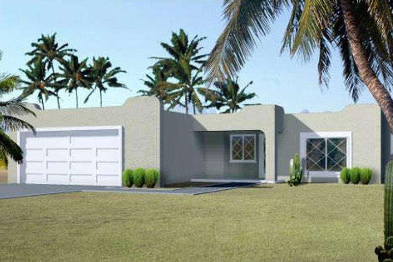 Adobe / Southwestern Style House Plan - 4 Beds 2 Baths 1299 Sq/Ft Plan #1-1080