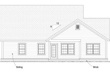 Cottage Exterior - Rear Elevation Plan #513-2089