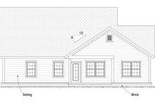 Home Plan - Cottage Exterior - Rear Elevation Plan #513-2089