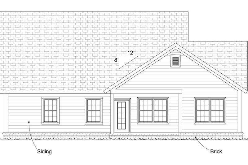 Cottage Exterior - Rear Elevation Plan #513-2089 - Houseplans.com