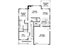 Craftsman Floor Plan - Main Floor Plan Plan #124-890