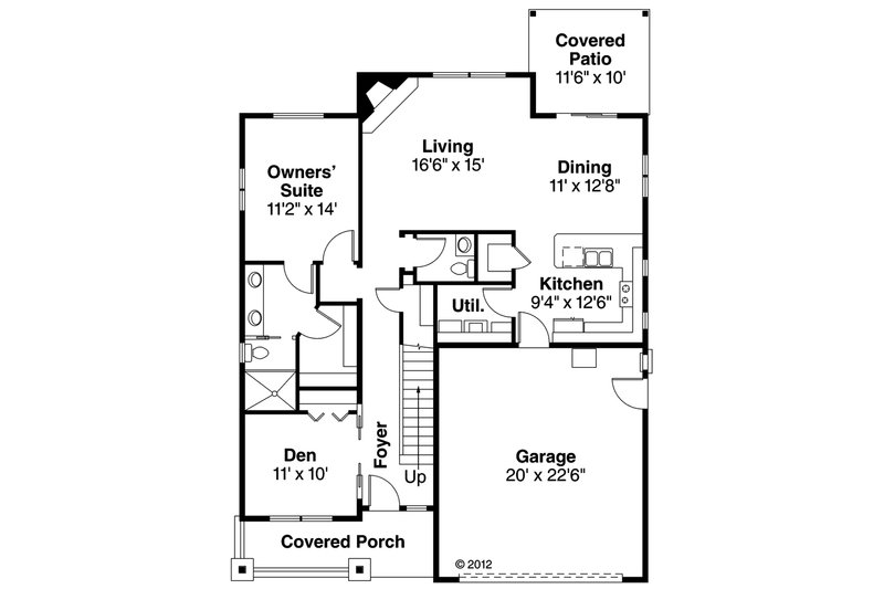 Craftsman Floor Plan - Main Floor Plan Plan #124-890