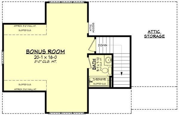 Farmhouse Floor Plan - Upper Floor Plan Plan #430-236