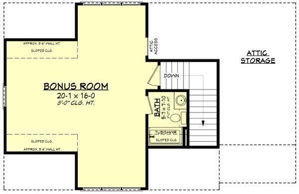 House Plan Design - Farmhouse Floor Plan - Upper Floor Plan #430-236