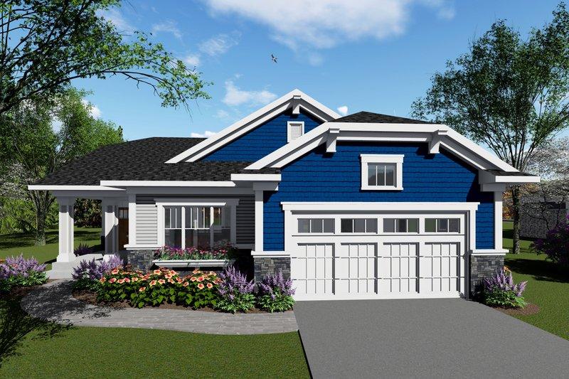 House Plan Design - Ranch Exterior - Front Elevation Plan #70-1416