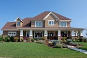 Craftsman Style House Plan - 4 Beds 3.5 Baths 3635 Sq/Ft Plan #51-455 Exterior - Front Elevation