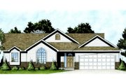 Traditional Style House Plan - 3 Beds 2 Baths 1214 Sq/Ft Plan #58-206 Exterior - Front Elevation
