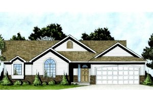 Traditional Style House Plan - 3 Beds 2 Baths 1214 Sq/Ft Plan #58-206