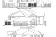 European Style House Plan - 3 Beds 2.5 Baths 2653 Sq/Ft Plan #17-239 Exterior - Rear Elevation