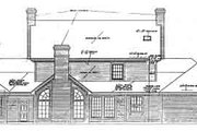 Colonial Style House Plan - 4 Beds 3.5 Baths 3335 Sq/Ft Plan #310-108 Exterior - Rear Elevation