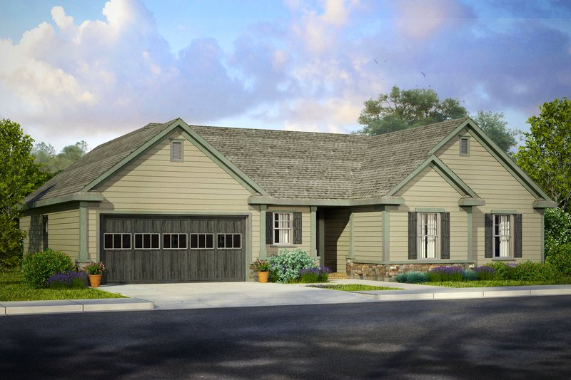 House Plan Design - Traditional Exterior - Front Elevation Plan #124-987