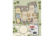 Mediterranean Style House Plan - 4 Beds 6.5 Baths 5126 Sq/Ft Plan #548-18 Floor Plan - Main Floor Plan