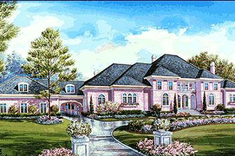 Dream House Plan - European Exterior - Front Elevation Plan #20-1203