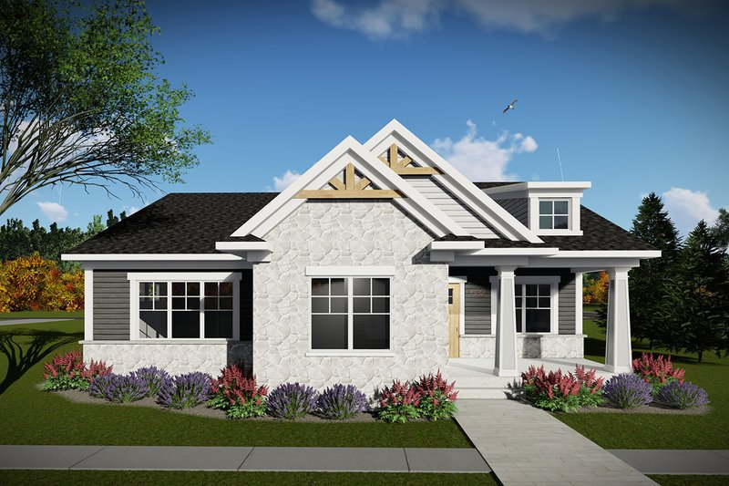 Home Plan - Ranch Exterior - Front Elevation Plan #70-1459
