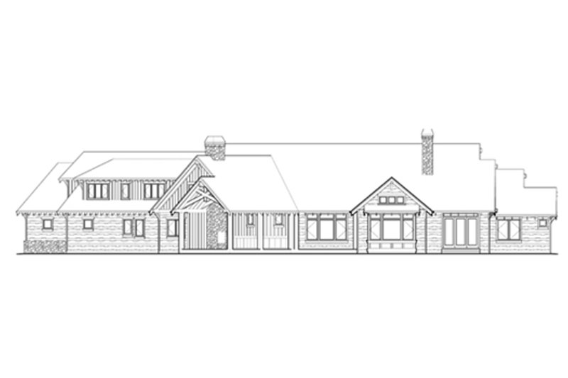 Craftsman Exterior - Rear Elevation Plan #48-465 - Houseplans.com
