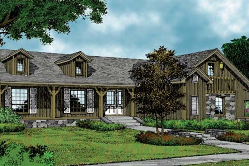 Country Exterior - Front Elevation Plan #417-585