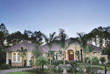 Mediterranean Exterior - Front Elevation Plan #930-417