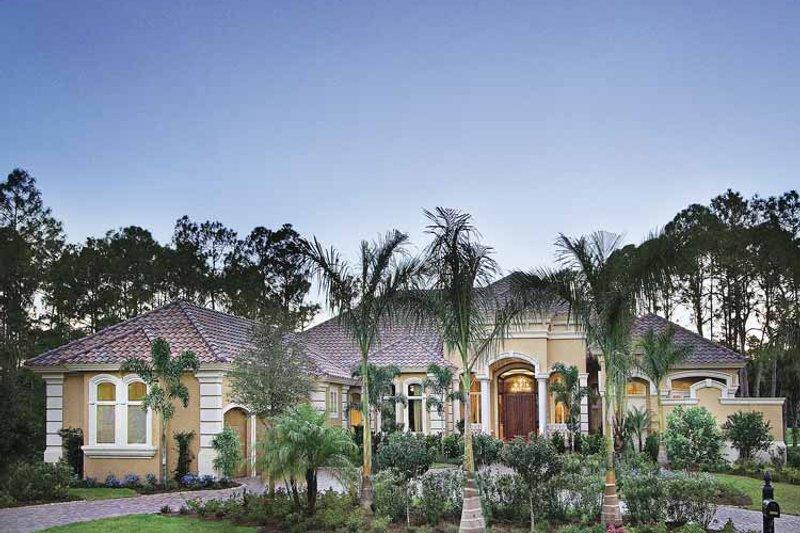 Dream House Plan - Mediterranean Exterior - Front Elevation Plan #930-417