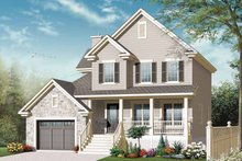 Country Exterior - Front Elevation Plan #23-2542